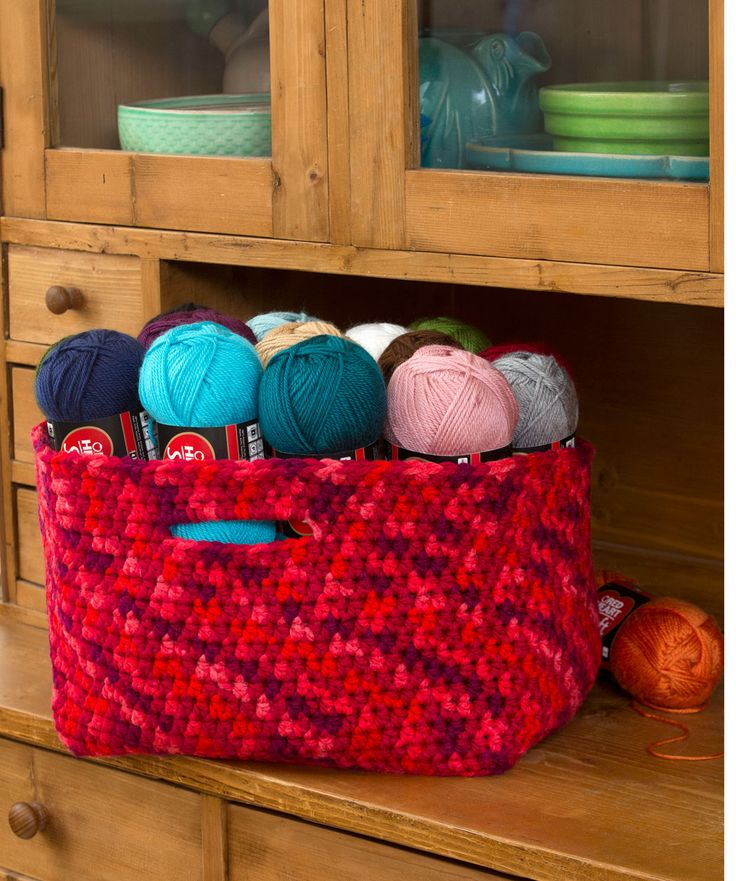 DIY: crocheted basket with handles