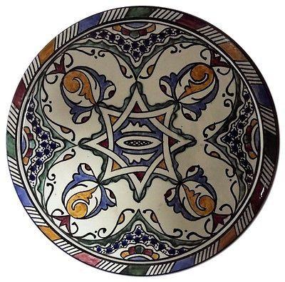 "Moroccan Mediterranean Design Color Serving Plate Wall Decor 10""ø"