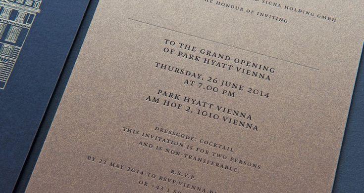 Exklusive Einladungen zur Eröffnung des Park Hotels Hyatt in Wien.