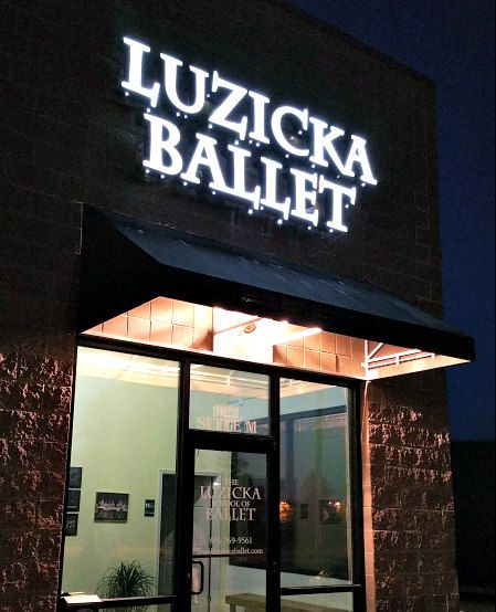 @Luzicka Ballet, our new neighbors, worked with us to install a #ChannelLetterSign.  Welcome Luzicka!