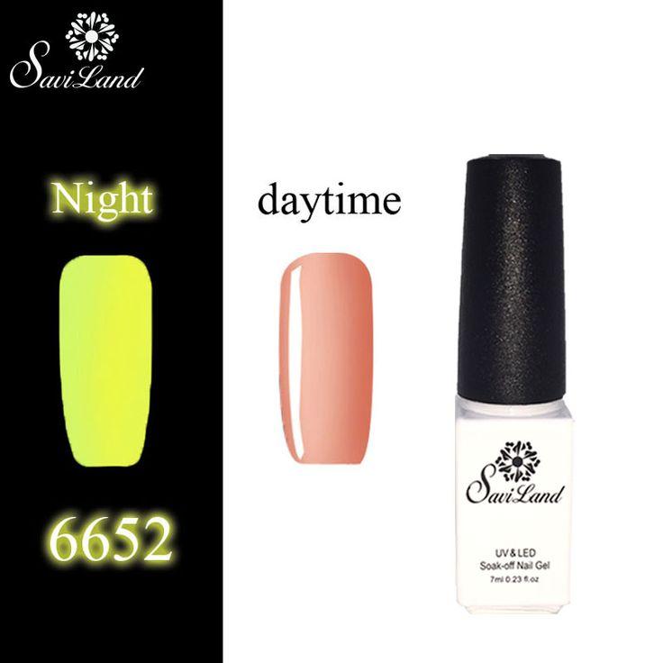 Saviland Fluorescent Neon Luminous Varnish Glow Gel Light Soak Off Nail Art Polish Gel Glow In The Dark UV Gel Polish