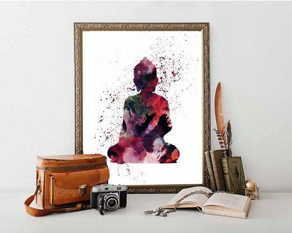 Buddha Poster Buddha Print Yoga Poster Abstract by DaniJArts