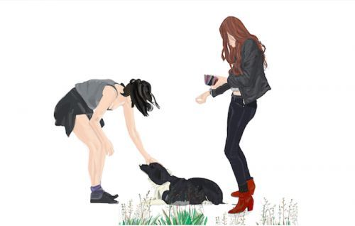 Mario Sughi, Girls with dog, 50x40cm, 2012, Limit. Ed. 1/7  Mario Sughi, Girls with dog, 50x40cm, 2012, Limit. Ed. 1/7
