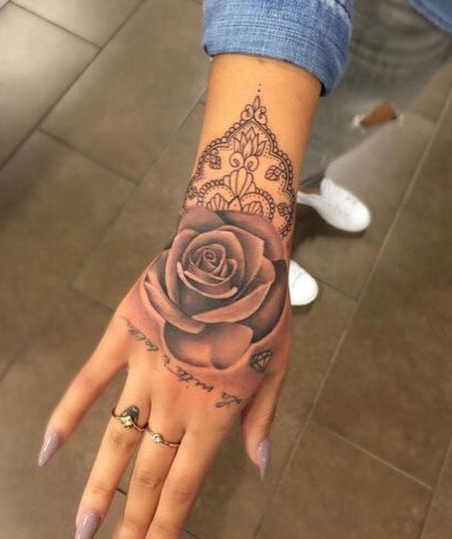 #rose #hand #tattoo – Typhaine Sentis