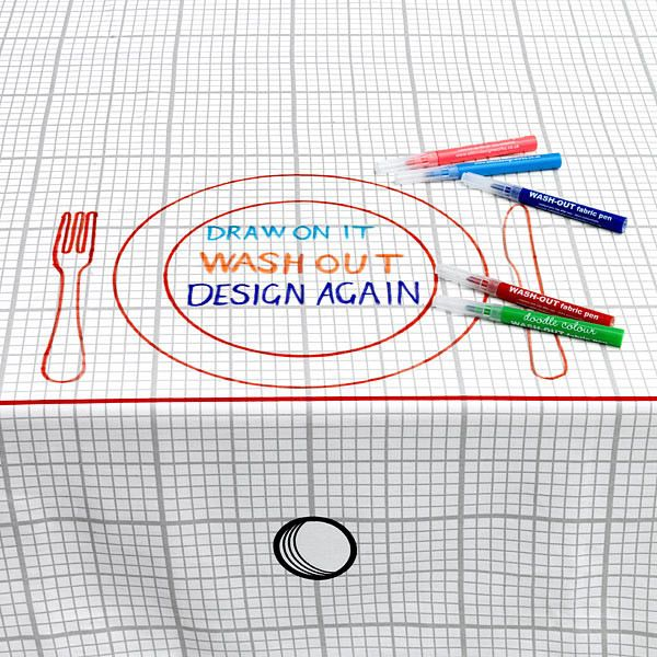 Doodle Tablecloth eclectic-tablecloths