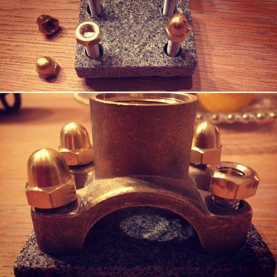 double Jack granite&brass base