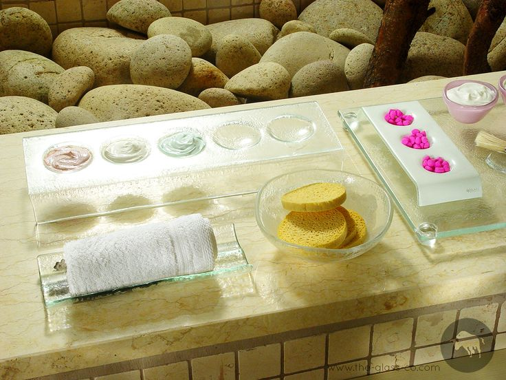 #Luxury #Spa #Amenities Luxury spa and bathroom amenities Spa treatment tray or hot towel holder or oshibori tray designed by www.the-glass-co.com
