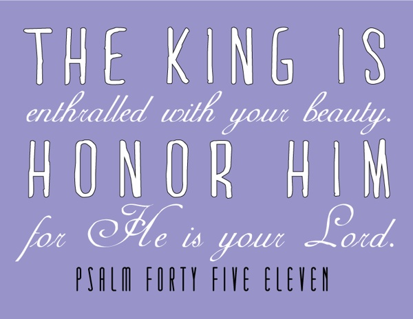 Psalm 45:11 by Chelsea Brown, via Behance