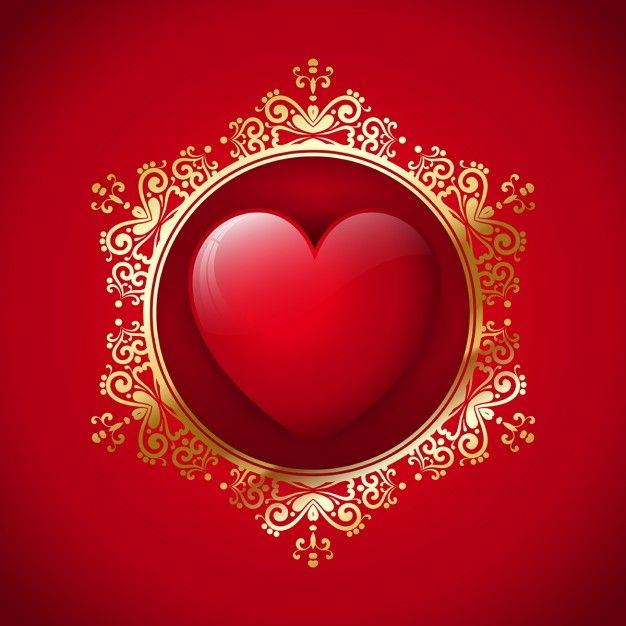 Декоративный фон День Святого Валентина с сердечками дизайн Бесплатные векторы