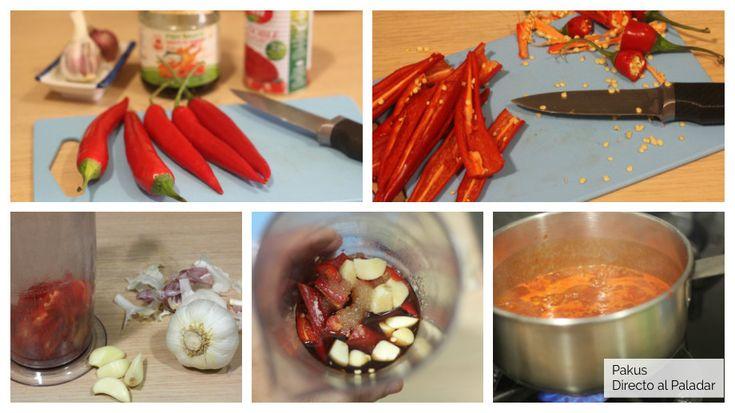 Salsa sriracha casera, la salsa picante suave que ha conquistado el m Chutney, World, Hot Sauce Homemade, Rice Vinegar, Appetizer Recipes, Christmas Recipes, Preserve, Southeast Asia