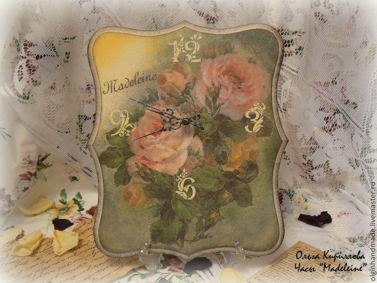 """Купить Часы """"Madeleine"""" - часы, часы настенные, часы ручной работы, часы декупаж"""