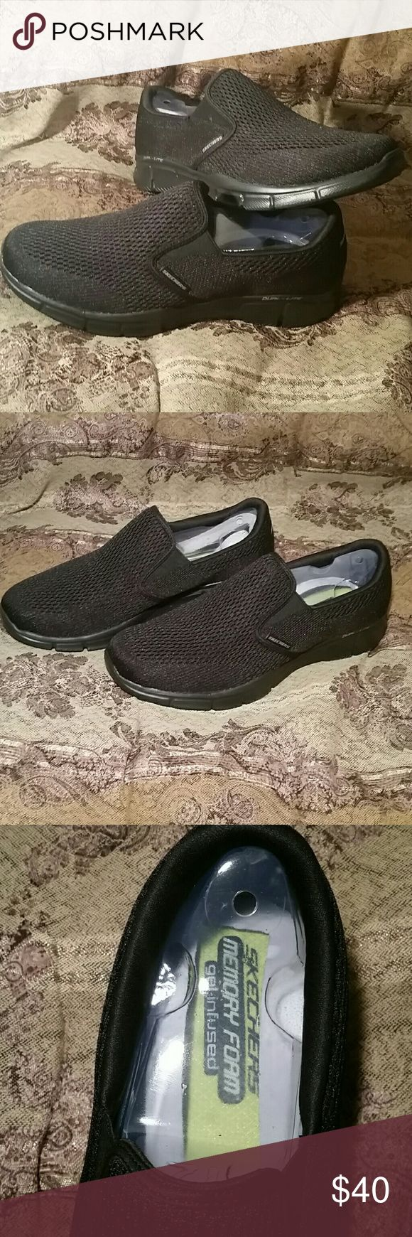 Skechers Men's Equalizer Double Play size 12 Memory foam and gel infused. Comfortable men's shoes that have never been worn Skechers Shoes Loafers & Slip-Ons