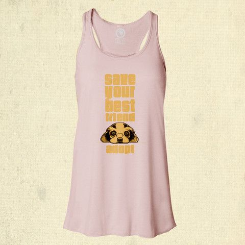 Save Your Best Friend - Flowy Racerback Tank - Soft Pink. Help save someone's future best friend - buy a tee and we'll donate $8 from your purchase to Barks of Love Animal Rescue! SHOP: www.float.org