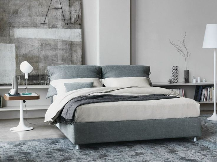 Double bed with removable cover NATHALIE Nathalie Series by Flou | design Vico Magistretti
