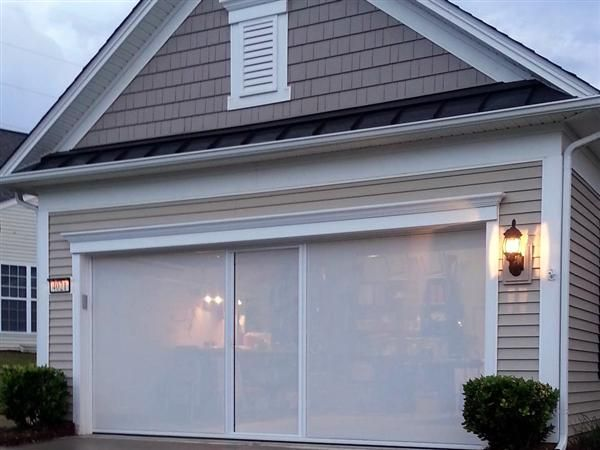 1000 ideas about custom screen doors on pinterest for Motorized garage door screens