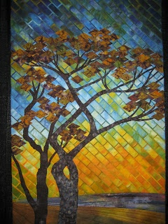 """By Gloria Loughman. LOVE the """"tiles"""" and the contrast between them."""