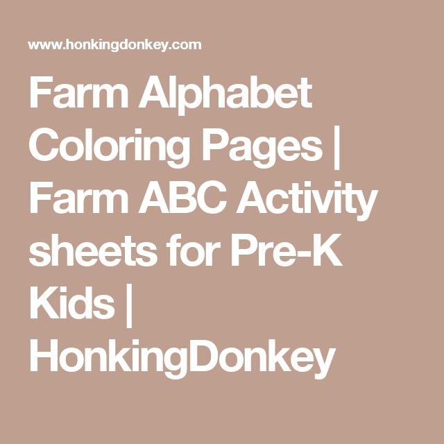 Kids Farm Alphabet Coloring Pages - ABC Activity Pages