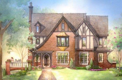 Картинки по запросу маленький дом из кирпича английский стиль