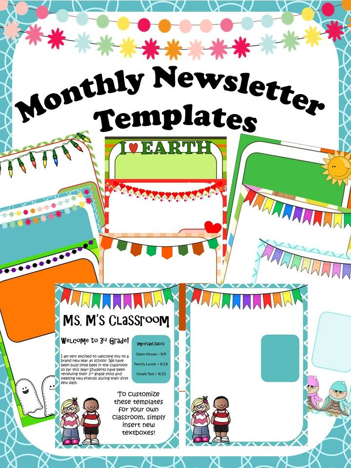 childcare newsletter templates - 1000 ideas about preschool newsletter templates on