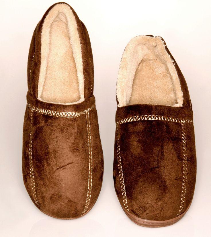 Suede Fleece Men's Slipper