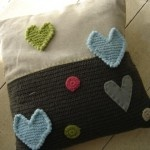 Hearts Crochet Scatter With Patchwork