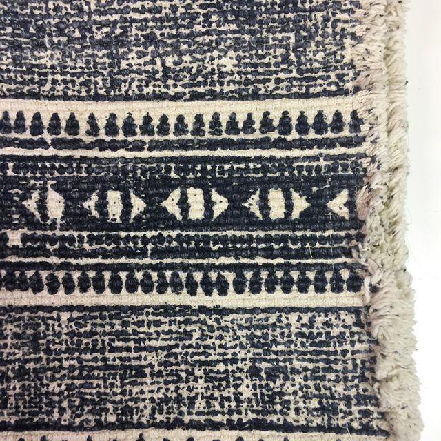 Indigo Cotton Throw Rug Detail