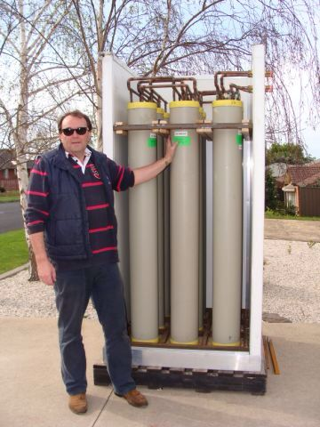 Latent heat storage unit headed for Tasmania.