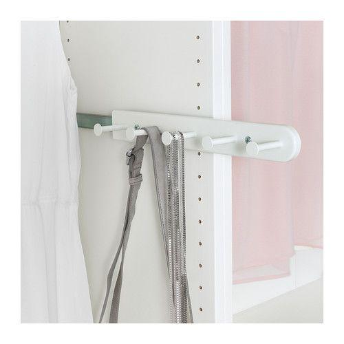 Komplement pat re coulissante blanc belt the hanger for Scarves hanger ikea
