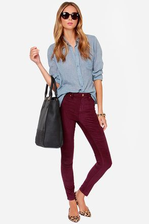 25+ best ideas about Burgundy Pants on Pinterest ...