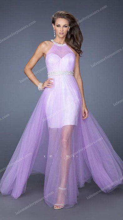 Beaded Tulle Divine Illusion Sheer Draped La Femme Homecoming Gown [La Femme 19840] - $178.90 : Juniors' Dresses | Cheap Prom Dresses 2014| Homecoming Dresses Discount