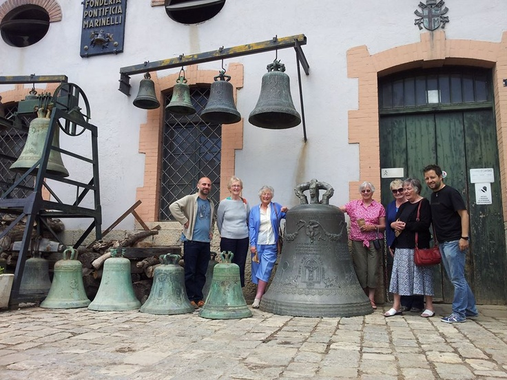 the bells foundry Marinelli (the oldest family business in Europe) in Agnone that makes the bells for the Vatican city
