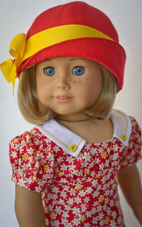 Dress & Cloche for Kit, Ruthie, or any AG doll by Anna's Girls