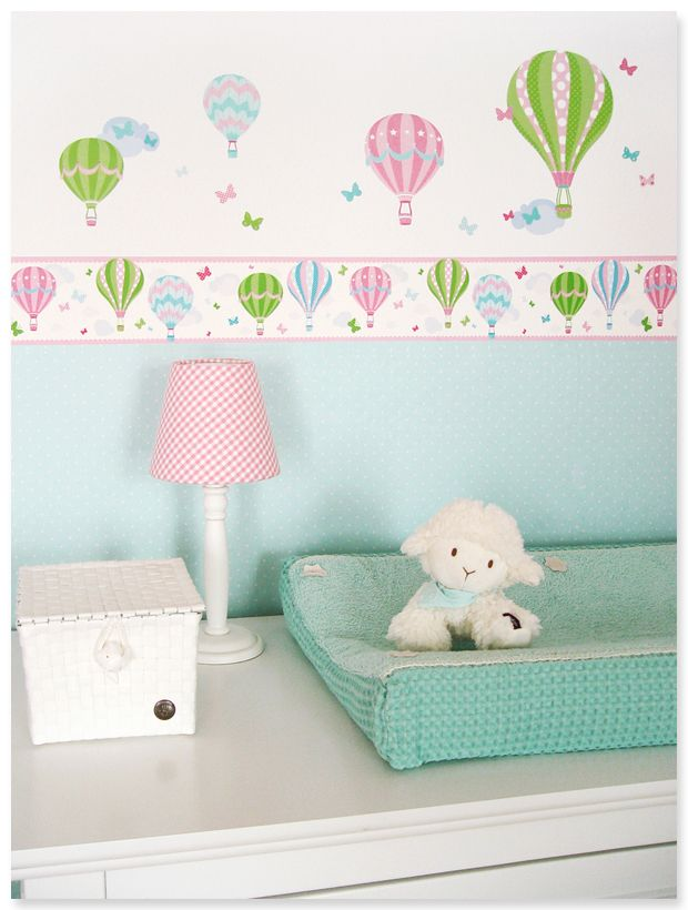 17 best images about hei luftballons in rosa gr n on for Baby deko mint