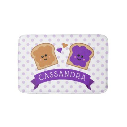 Cute Peanut Butter and Jelly Bath Mat - home gifts ideas decor special unique custom individual customized individualized