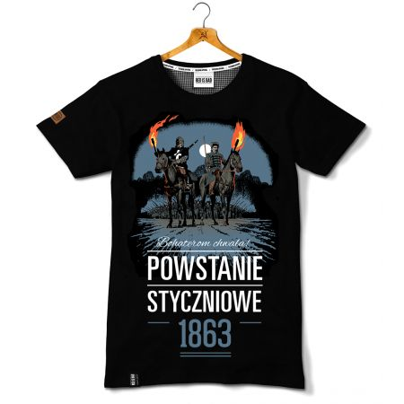 Koszulka patriotyczna Powstanie Styczniowe - Kolekcja Unikalna - odzież patriotyczna, koszulki męskie Red is Bad