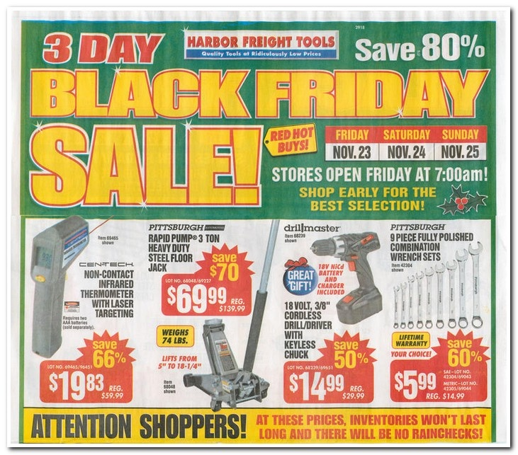 Harbor Freight Black Friday Ad Scan Page 1 of 4 Black