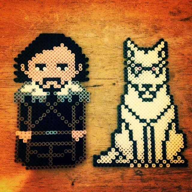 Jon Snow Game of Thrones perler beads by holdincourtney