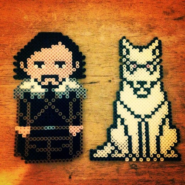 Jon Snow Game of Thrones perler beads by holdincourtney