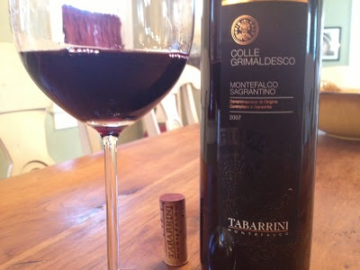 Tabarrini Sagrantino:  2007 Colle Grimaldesco is drinking well now.