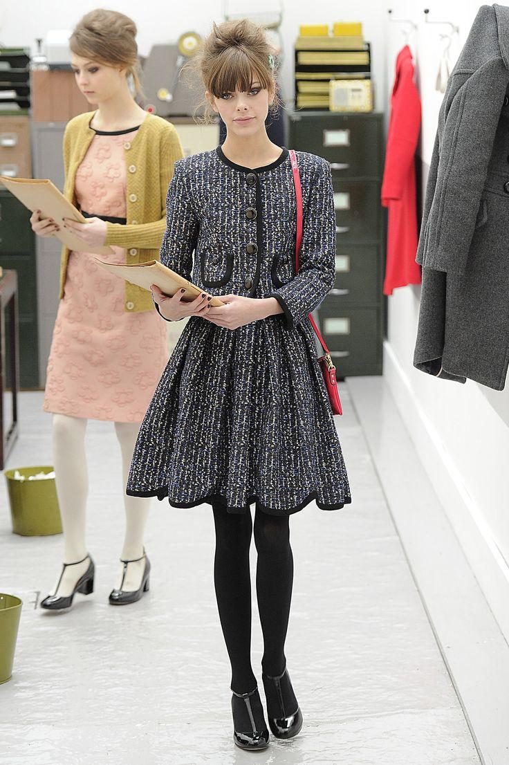 Chanel-like jacket with full skirt - orla kiely | A/W 2013