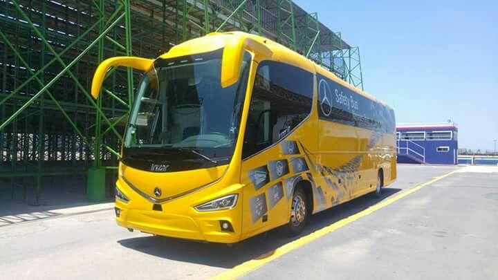 Mercedes benz OC500 irizar i8 safety bus, México. Sistema de frenado de emergencia, sistema de presión y monitoreo de temperatura de neumáticos, sistema de aviso de salida carril.