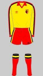 Watford F.C kit —1980/82.