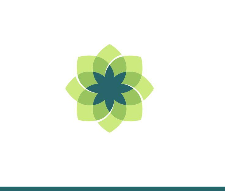 Logotipo verde/azul con fusiones de capas