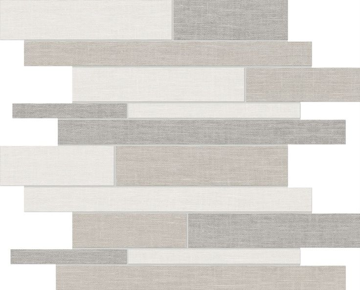 Belgian Linen Random Strip mosaics - available in Light and Dark #Porcelain #Tile www.anatoliatile.com