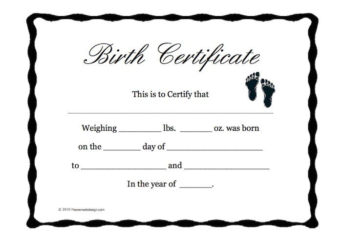 Más de 25 ideas increíbles sobre Blank certificate template en - birth certificate template printable