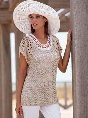 Cool summer top free knitting pattern