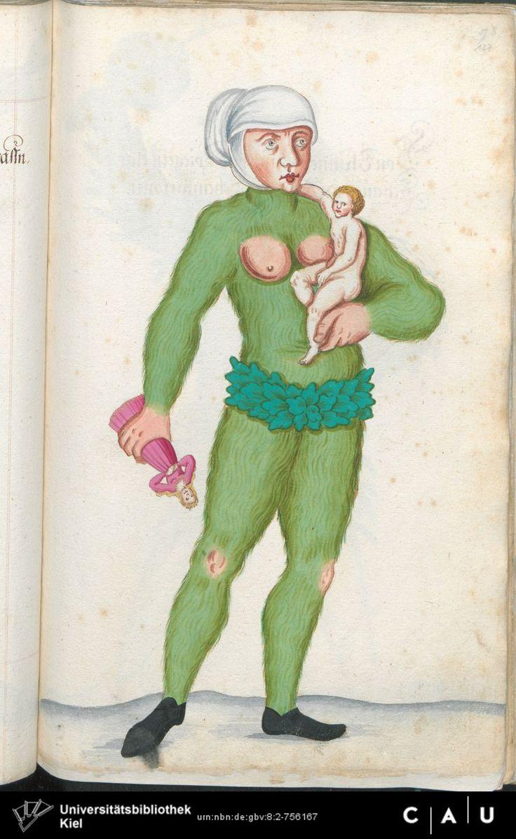 Nürnberger Schembart-Buch Erscheinungsjahr: 16XX  Cod. ms. KB 395  Folio 253