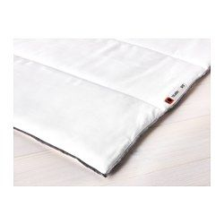 IKEA - TILKÖRT, Comforter, cooler, -, Twin, , If you often feel warm this cooler, thinner comforter with less filling is the right one for you.Easy-care comforter that feels soft and comfortable against your skin as the fabric is brushed microfiber.A good choice if you are allergic to dust mites since the quilt is machine-washable at 140°F (Hot), a temperature that kills dust mites.