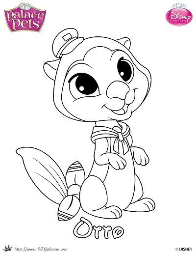 Printable Princess Palace Pets Coloring Page Of Otto
