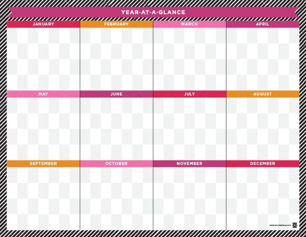 2015 calendar portrait orientation one page monday start for Year at a glance template for teachers